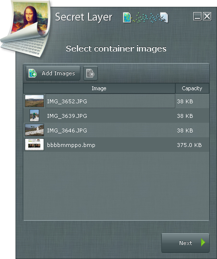 SecretLayer, Access Restriction Software Screenshot