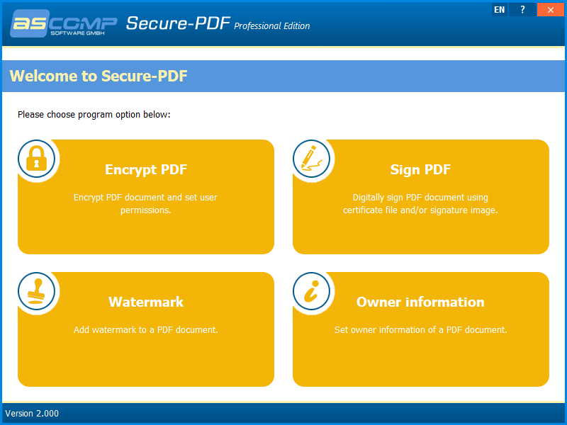 Secure-PDF Screenshot