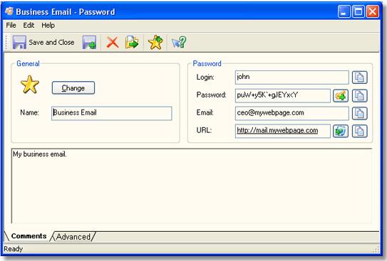 SecureSafe Pro, Password Manager Software Screenshot