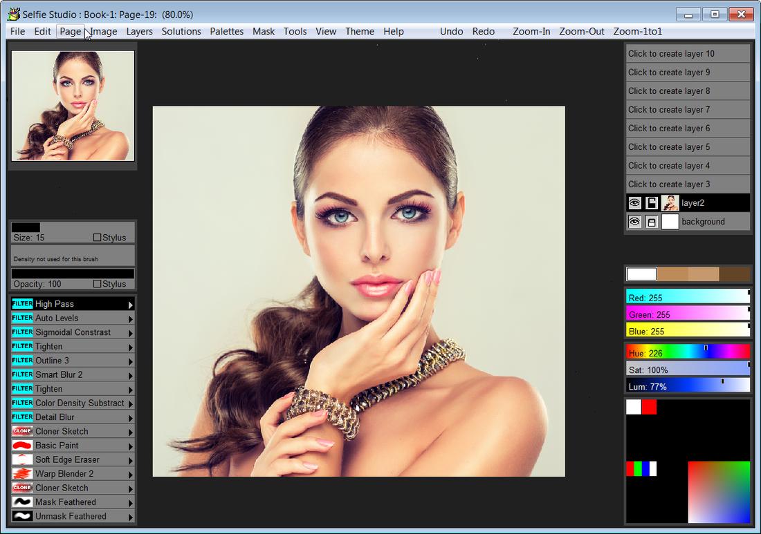 Selfie Studio Screenshot