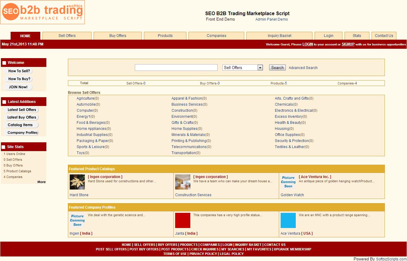 SEO B2B Marketplace Script, Website Builder Software Screenshot
