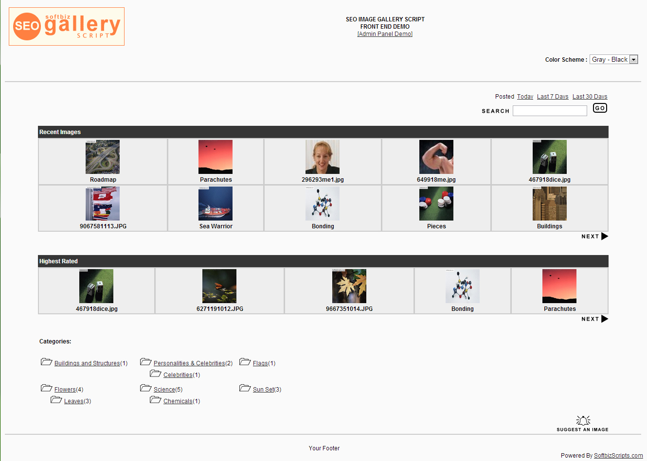 SEO Gallery Script Screenshot