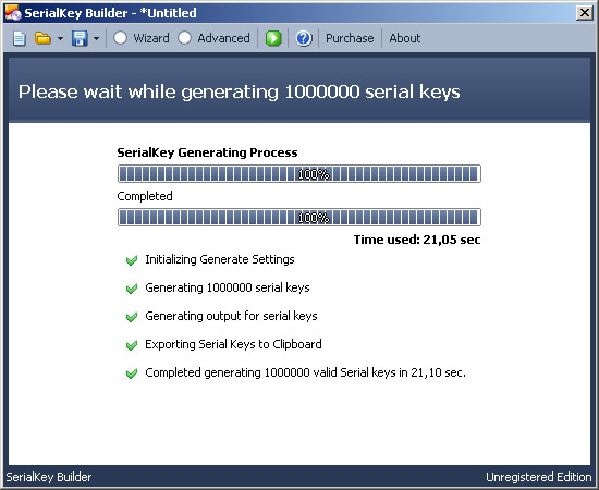 SerialKey Builder, Software License Software Screenshot