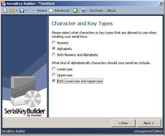 SerialKey Builder Screenshot