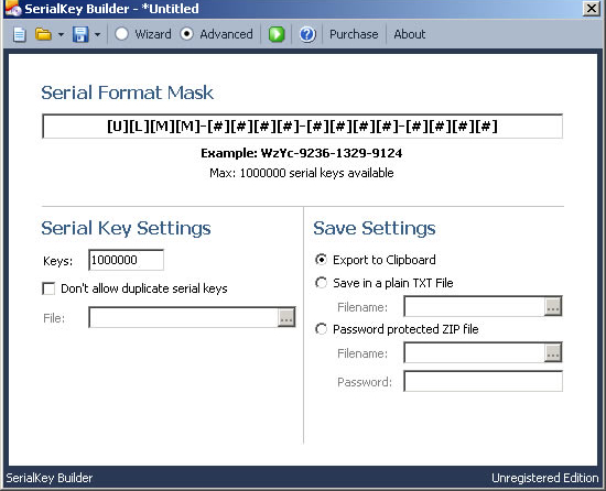 Software License Software Screenshot
