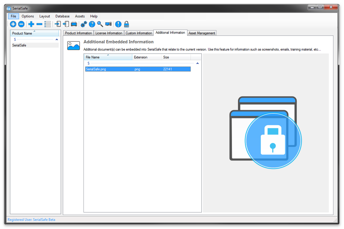 SerialSafe, Productivity Software Screenshot