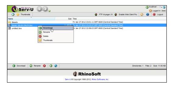 FTP Software, Serv-U Bronze Screenshot
