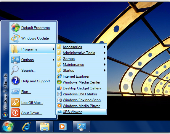 Seven Classic Start, Desktop Customization Software Screenshot