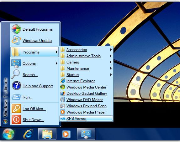 Seven Classic Start, Desktop Customization Software Screenshot