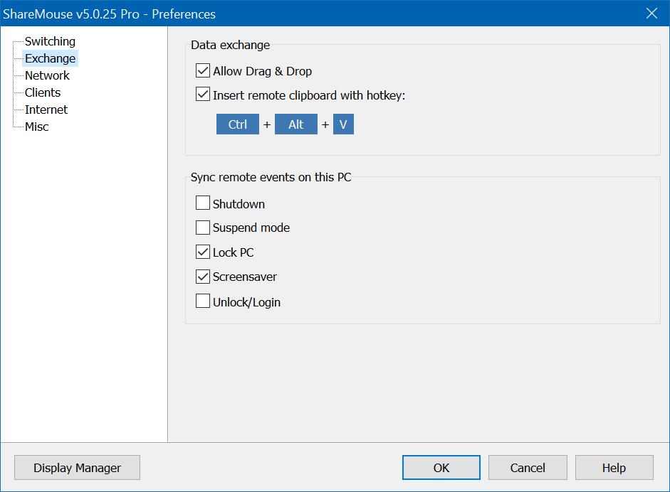 ShareMouse - Mouse and Keyboard Sharing Software, Desktop Space Software Screenshot