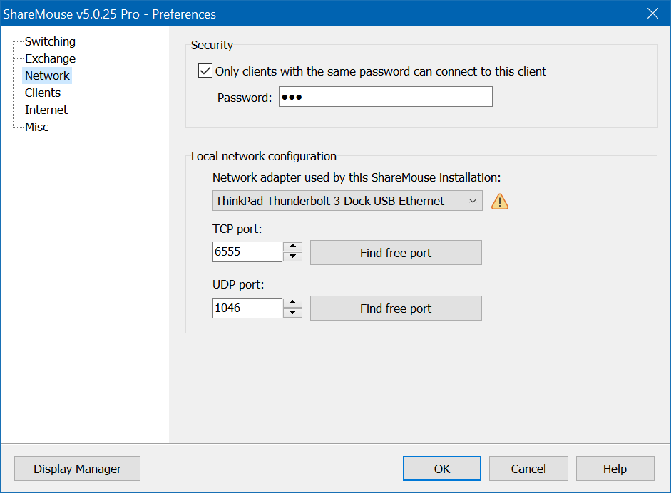 Desktop Space Software, ShareMouse - Mouse and Keyboard Sharing Software Screenshot
