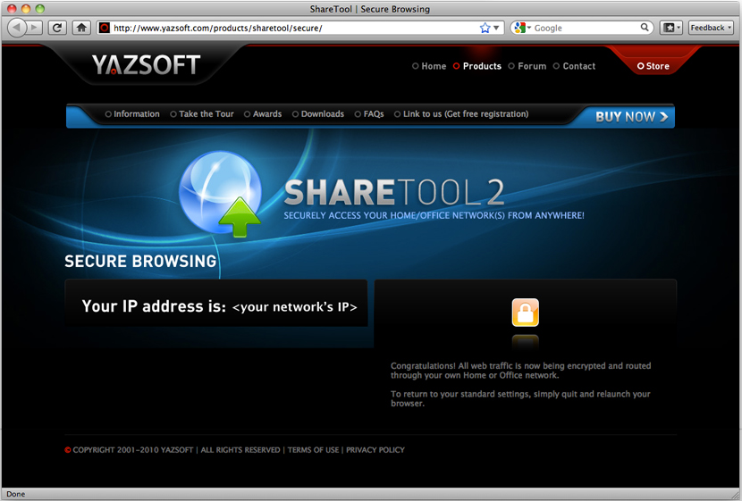 Internet Software, ShareTool Screenshot
