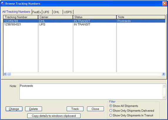 Organization Software Screenshot