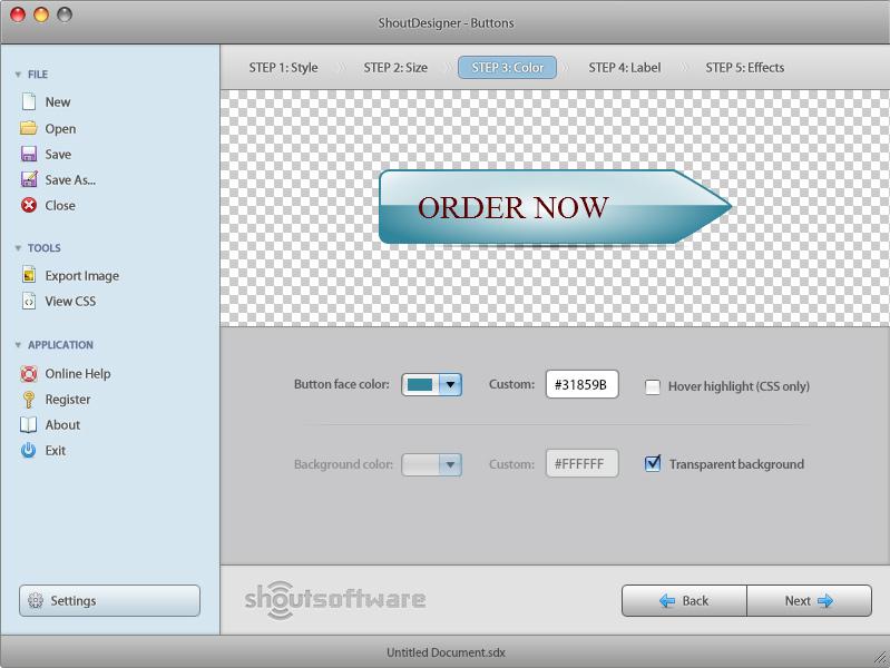 ShoutDesigner, Graphic Design Software Screenshot