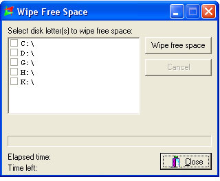 Shred Agent, Security Software Screenshot