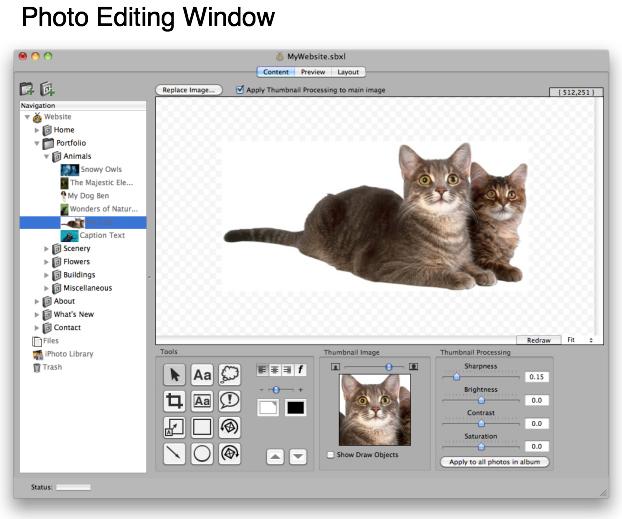 ShutterBug, Website Builder Software Screenshot
