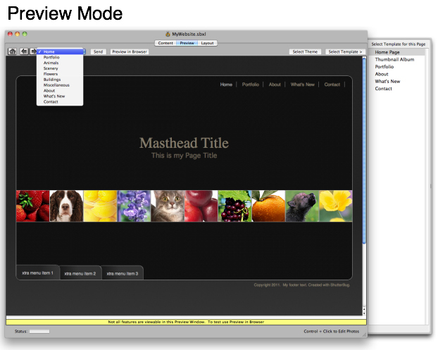 ShutterBug, Development Software Screenshot