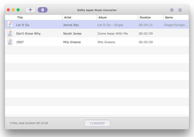 Sidify Apple Music Converter, Audio Conversion Software Screenshot