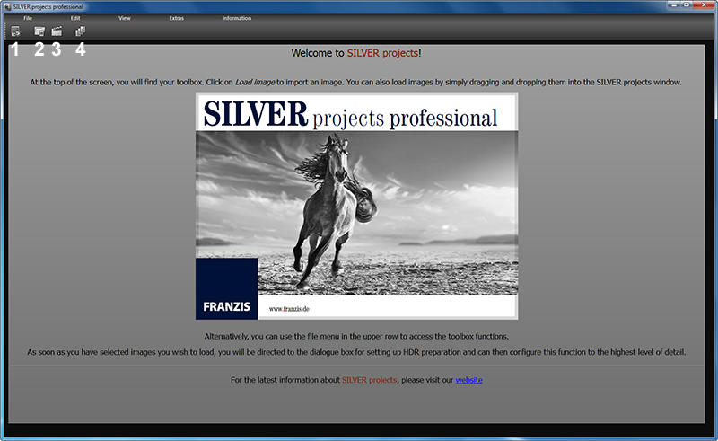 Silver Projects Professional, Photo Editing Software Screenshot