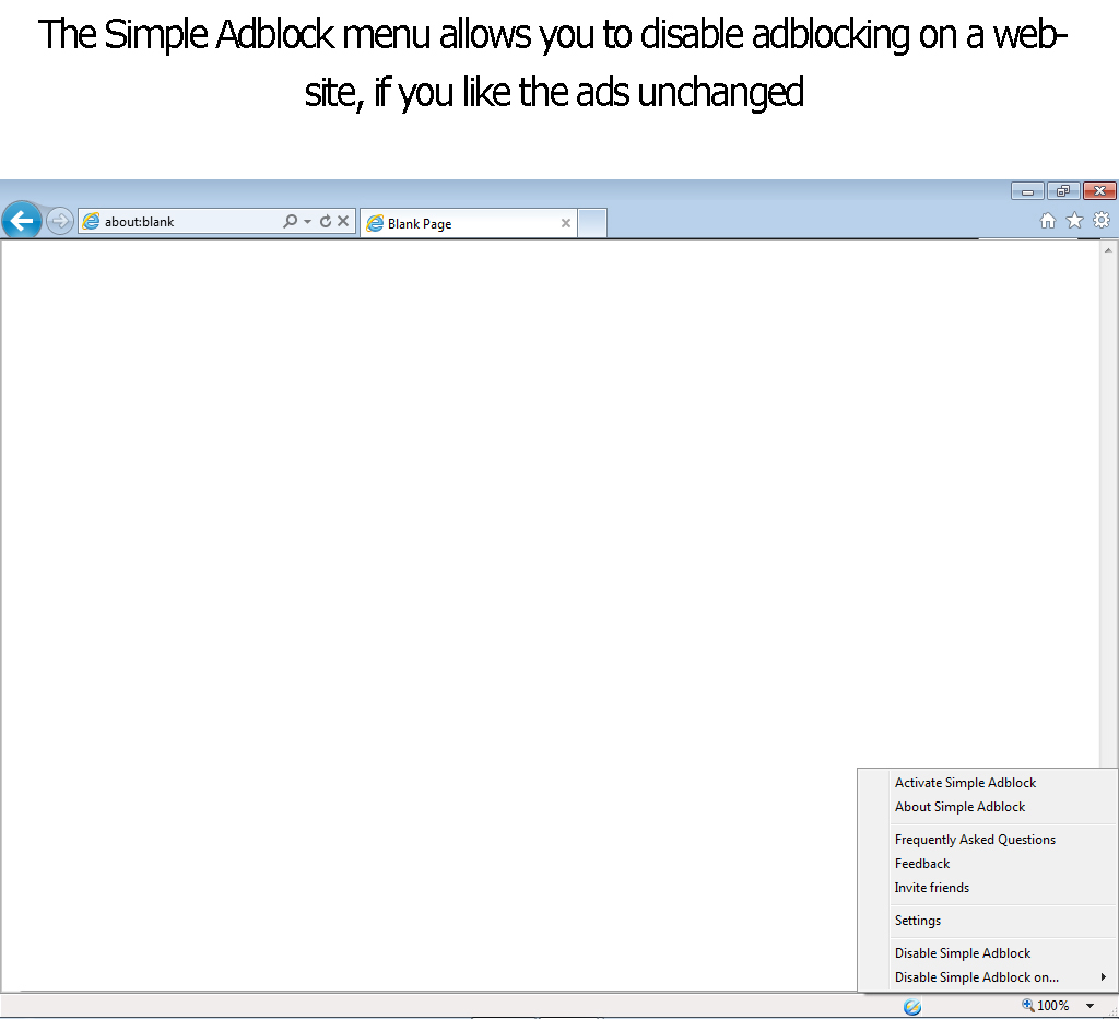 Simple Adblock, Security Software Screenshot