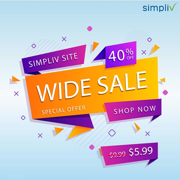 Simpliv Site-Wide Sale Screenshot