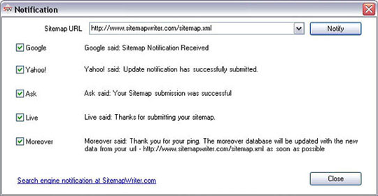 Sitemap Writer Pro, Web Development Software Screenshot