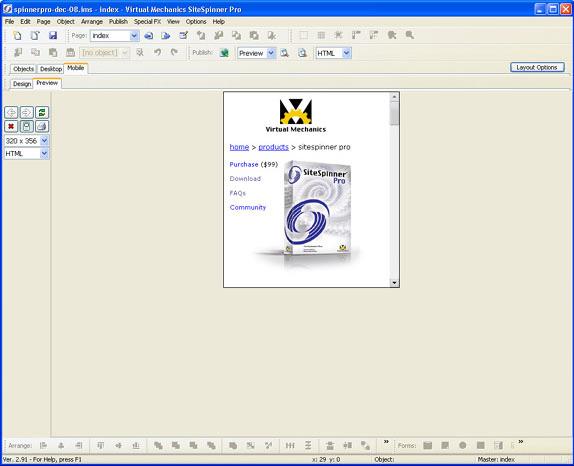 SiteSpinner Pro, Development Software, Website Builder Software Screenshot