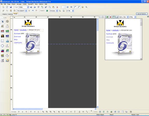 Development Software, SiteSpinner Pro Screenshot