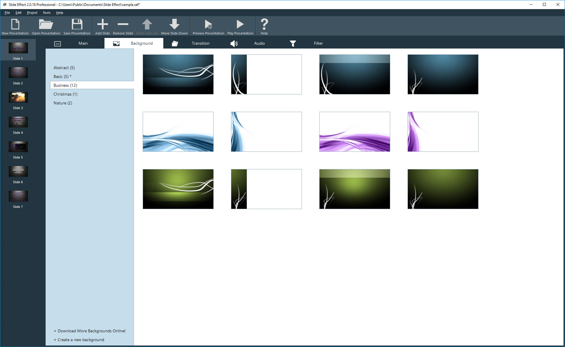 Design, Photo & Graphics Software, Slide Effect Professional Screenshot