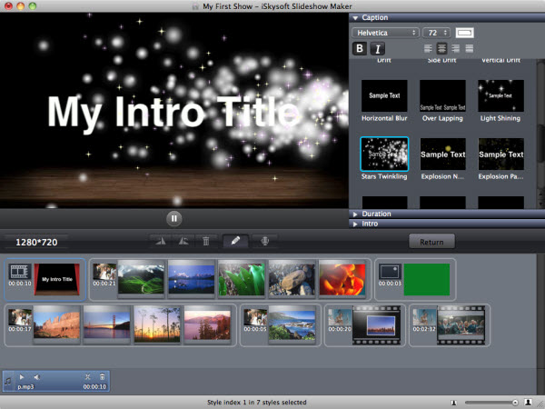 Slideshow Maker, Design, Photo & Graphics Software, Slideshow Software Screenshot