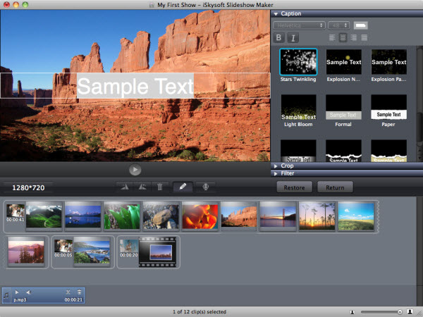 Slideshow Software, Slideshow Maker Screenshot