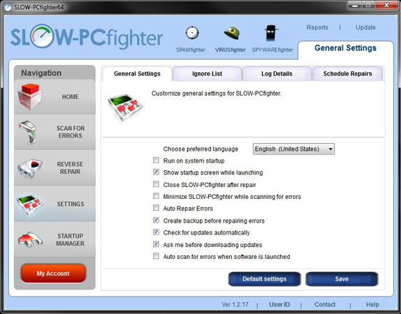 SLOW-PCfighter, Software Utilities Screenshot