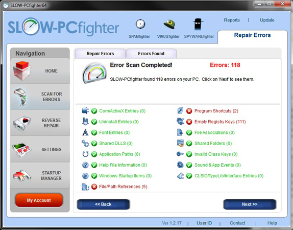 Registry Cleaner Software Screenshot
