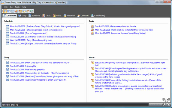 Hobby, Educational & Fun Software, Smart Diary Suite 4 Screenshot