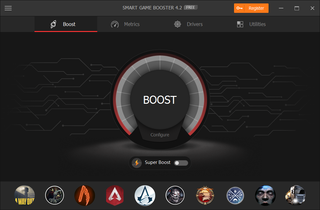 Smart Game Booster Screenshot