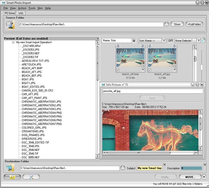 Thumbnail Software Screenshot