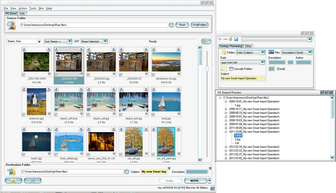 Smart Photo Import Screenshot
