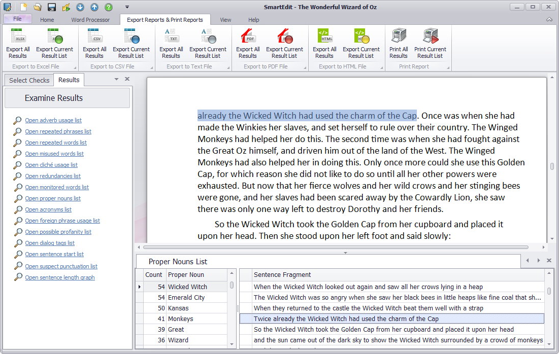 Writing and Journaling Software, SmartEdit Screenshot