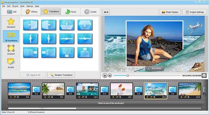 Slideshow Software Screenshot
