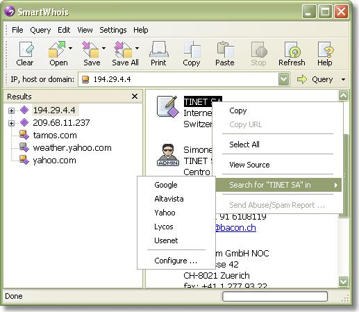 SmartWhois Screenshot 10