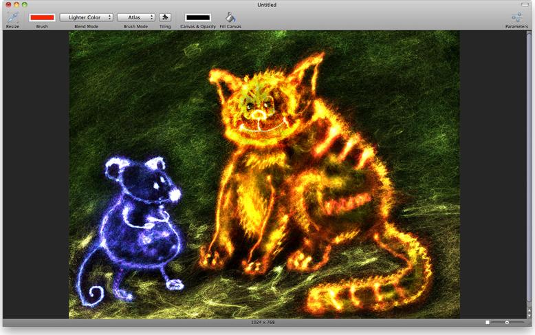 Smoke, Art Technique Software Screenshot