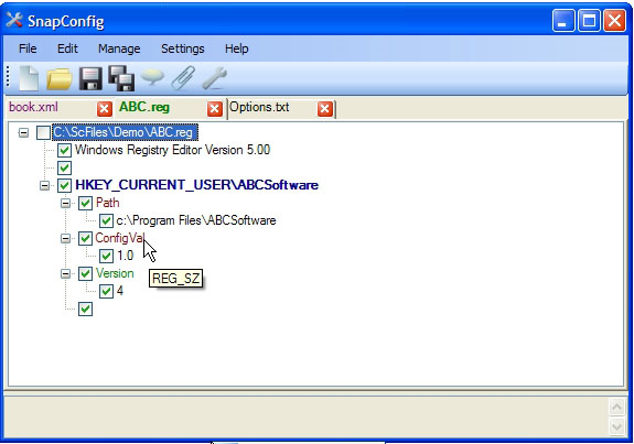 SnapConfig, Development Software Screenshot