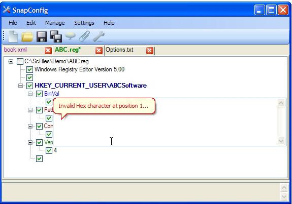 Development Software, SnapConfig Screenshot