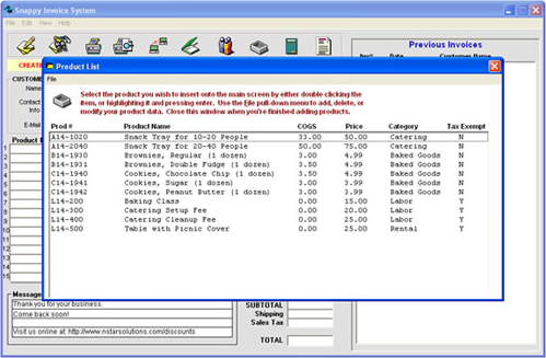 Snappy Invoice System, Business & Finance Software Screenshot