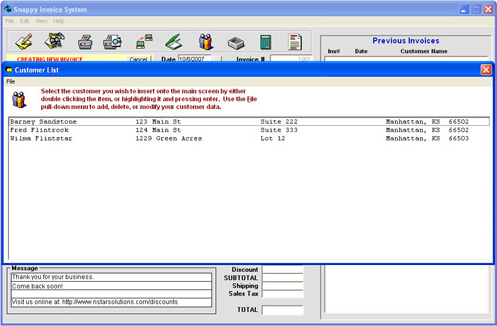 Snappy Invoice System, Accounting Software Screenshot