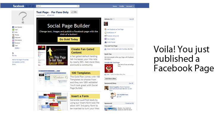 Social Page Builder Screenshot 9