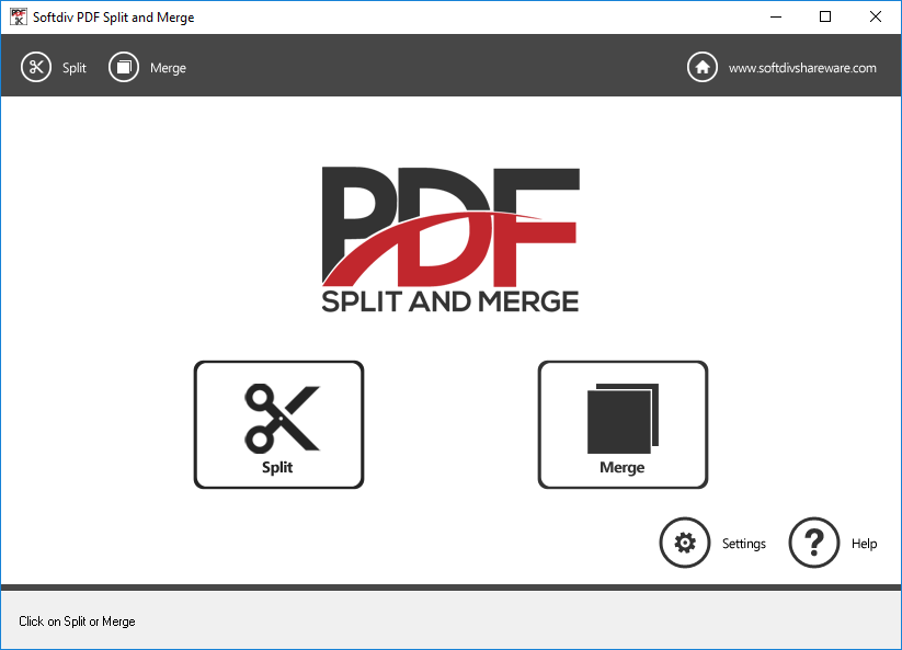 Softdiv PDF Split and Merge Screenshot