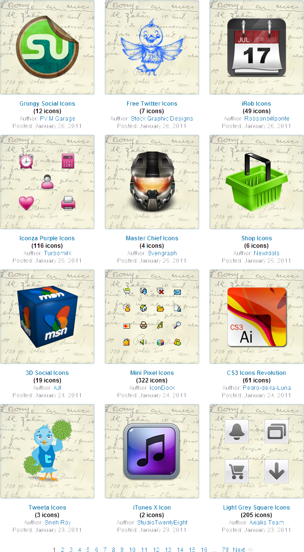 SoftIcons.com, Icons Software Screenshot