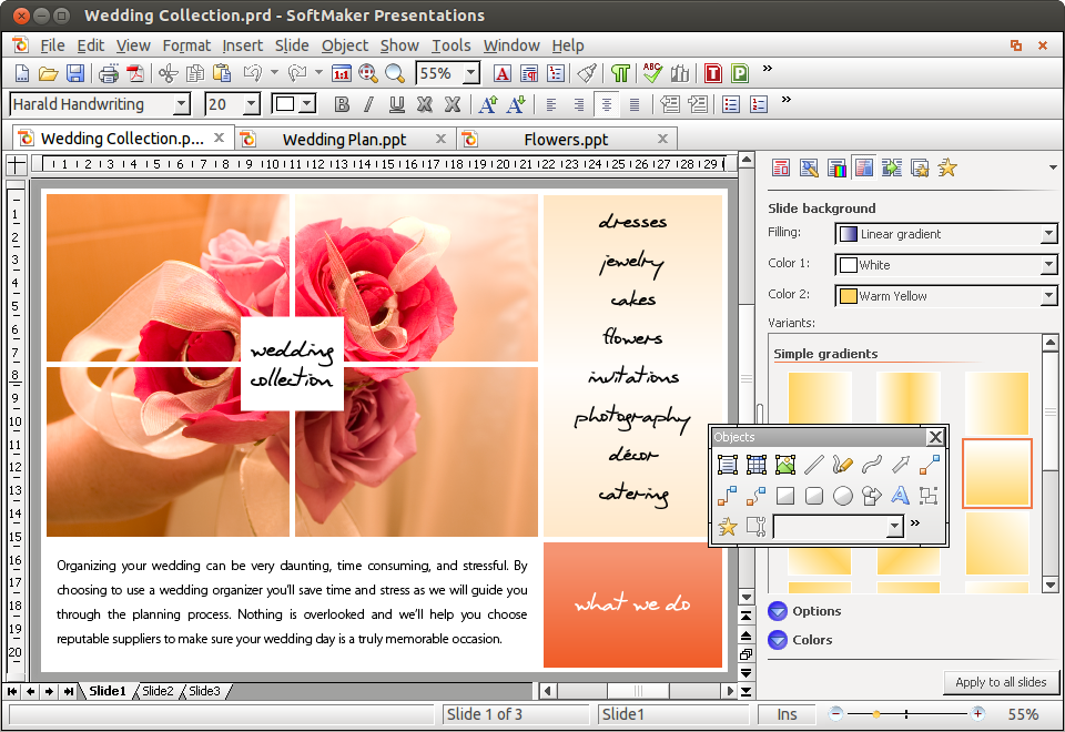 SoftMaker Office 2012 for Linux, Word Processing Software Screenshot