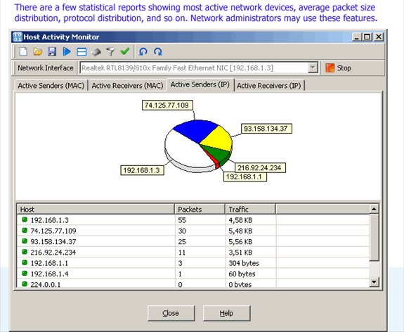 SoftPerfect Network Protocol Analyzer, Internet Software Screenshot